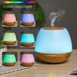 Essential Oil Diffuser with Bluetooth Speaker 300ml Aromatherapy Ultrasonic Cool Mist Humidifier Scent Air Room Fragrance Home Office with Colorful Led Light