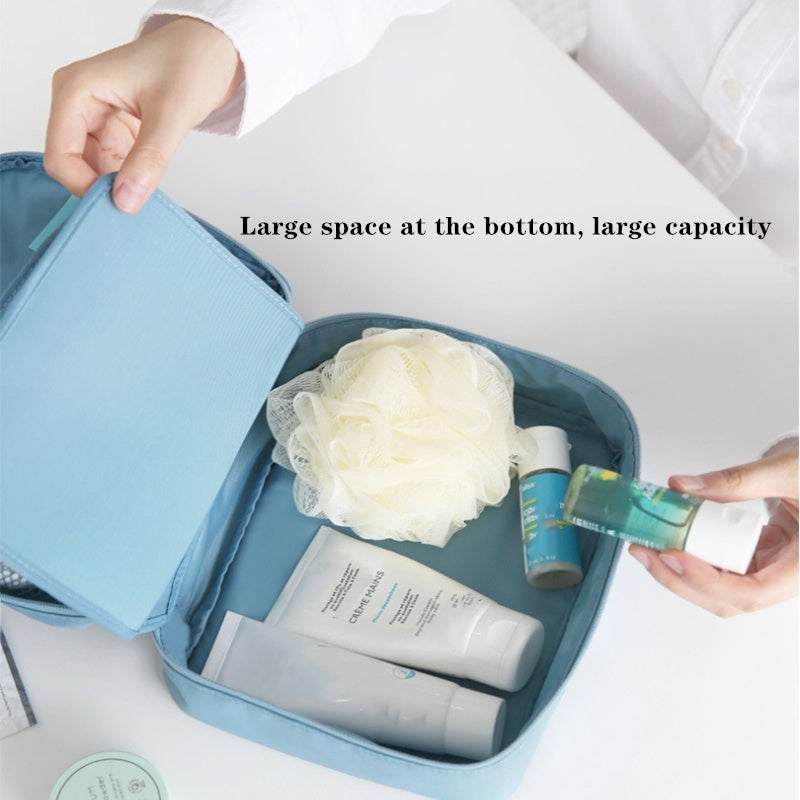 Nylon Oxford cloth portable cosmetic bag wash bag travel simple classification storage bag