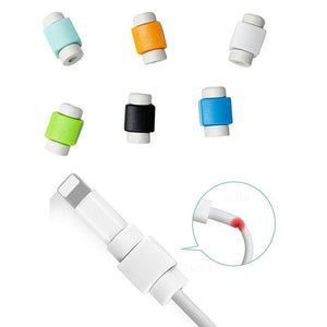 5/10/20 PCS USB Cable Protector Charger Data Protector Cover for Iphone Ipad Lovely Mini Wire Protection Cable Cord Phone Cord Accessories (Random Color)