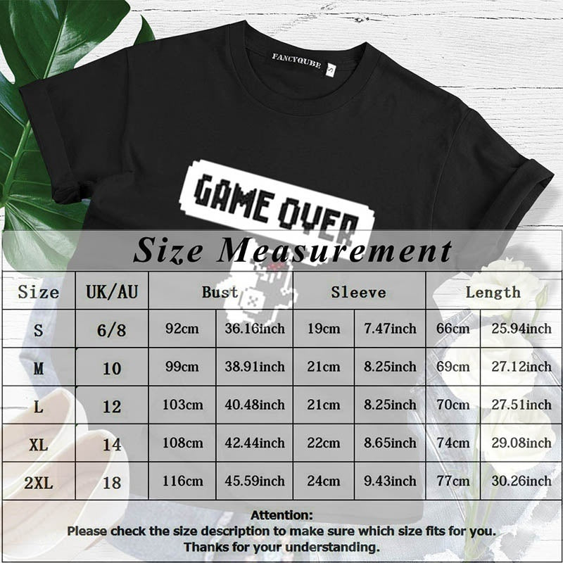 2019 New Women Fashion Casual Danganronpa Game Over Printed Tee Shirt Short Sleeve Round Neck Loose Shirt Tops
