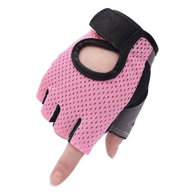 Breathable Men Women Fitness Gloves Gym Weightlifting Gloves Bodybuilding Training Gloves Non-slip Cycling Half Finger Gloves