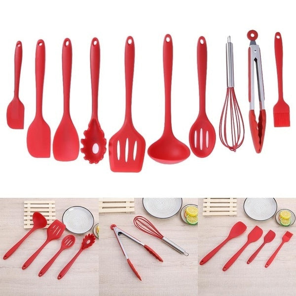 10Pcs/set Nonstick Cookware Set Silicone Spatula Spoon Kitchen Utensils DIY Kitchen Cooking Tools