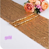 "30X180cm Gold/Silver/Rose Gold Glitter Sequin Table Runner Sparkly Wedding Party Deco 16"" MERMAID Sequin * MAGICAL Color Changing REVERSIBLE"