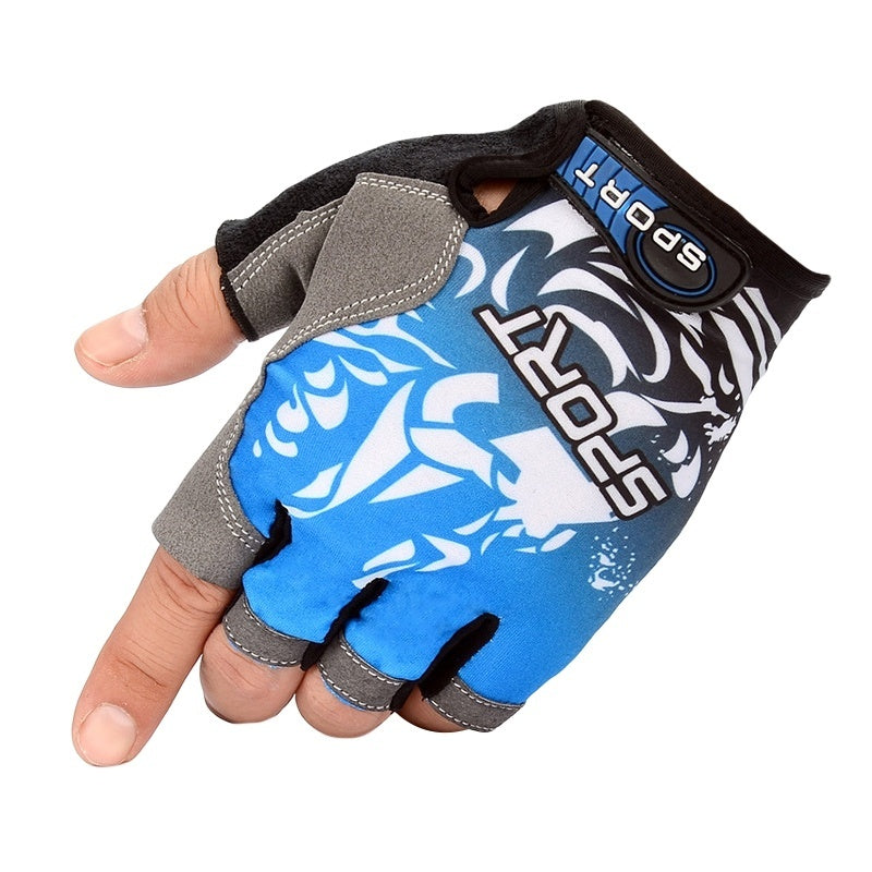 Half Finger Breathable Cycling Gloves Anti-Slip Gel Pad Motorcycle MTB Mountain Road Bike Glove Men Women Sports Fishing Gloves