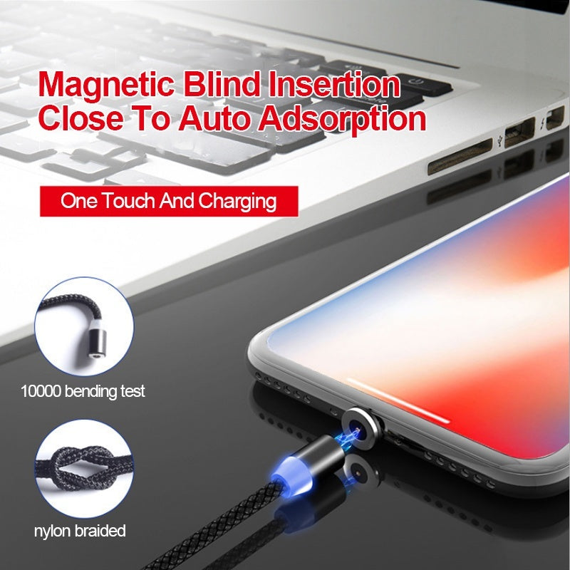 Fast Magnetic Cable Quick charge 3.0 Micro USB Charger Type C Charging For iPhone XS MAX Samsung S9 Magnet Phone Cord