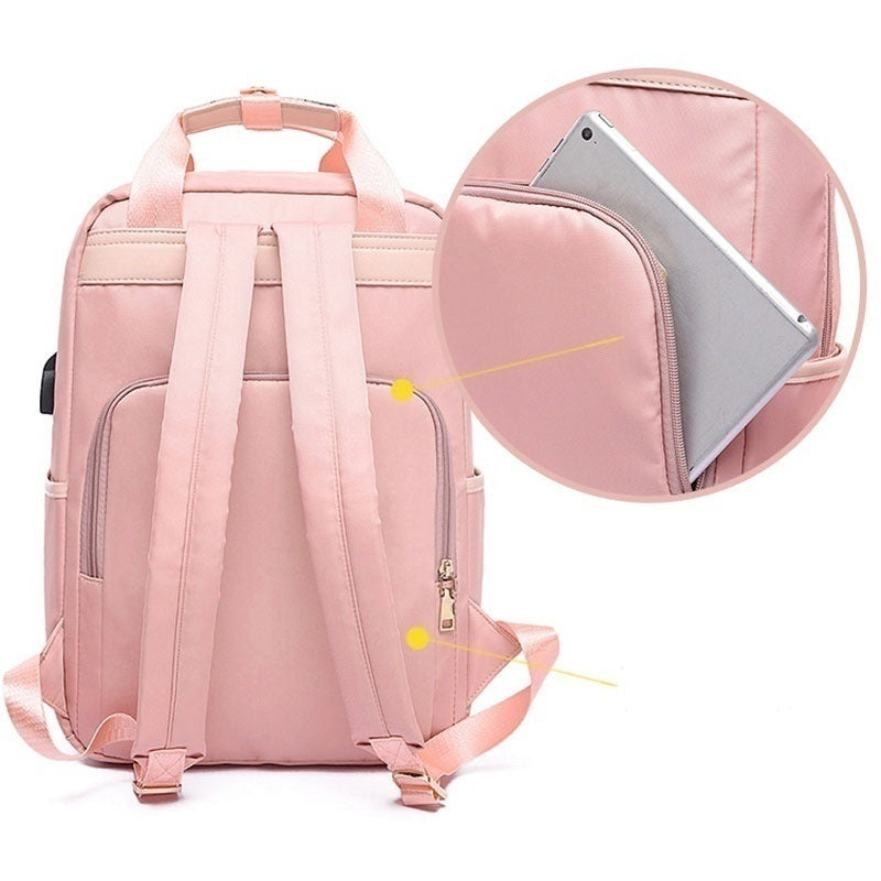 Fashion Anti-theft Bag Travel Waterproof Backpack Women Large Capacity Business USB Charge  Laptop Backpack Leisure bag Laptop bag