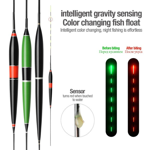 1pc Smart Fishing Float LED Light Automatic Remind Night Color Changed Electronic Fishing Buoy Tool