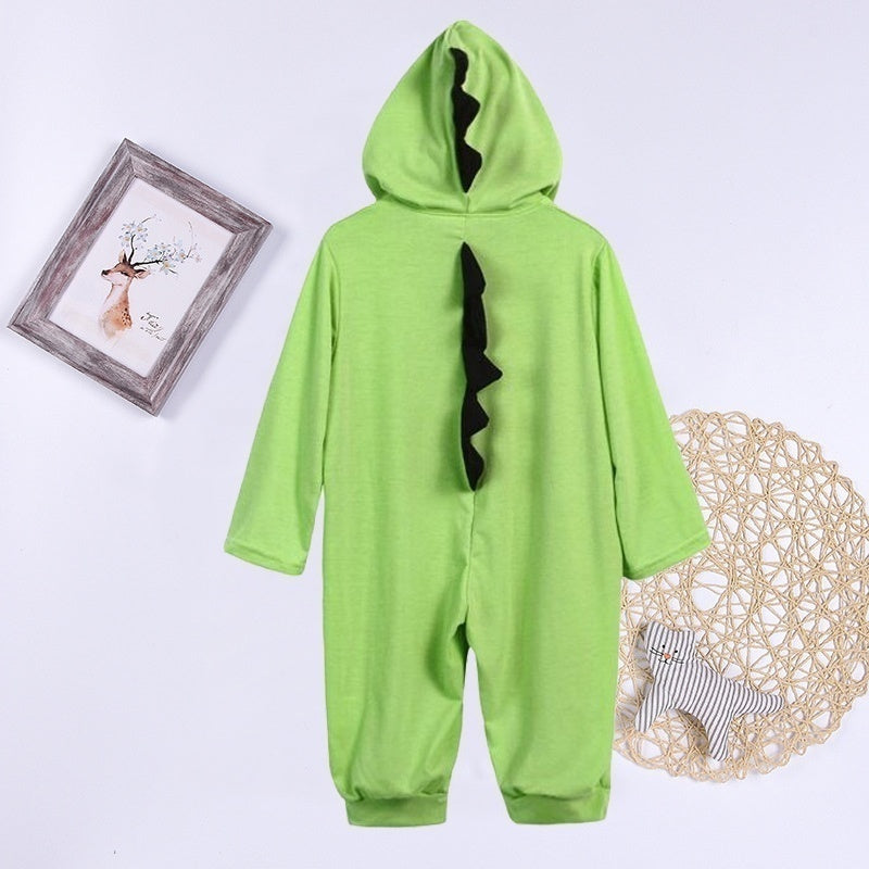 Fashion Warm Baby Girls Boys Cute Dinosaurs Romper Cotton Newborn Baby Jumpsuit Hoodies Kids Children Overalls Clothes Sleepwear