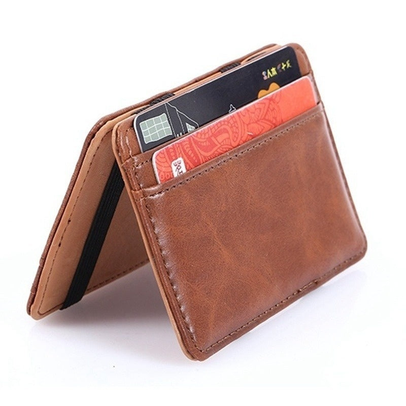 Chic Leather Magic Money Clip Slim Mens Wallet ID Credit Card Holder Case Money Clips Men Slim Wallet Card Holder Wallets for Men