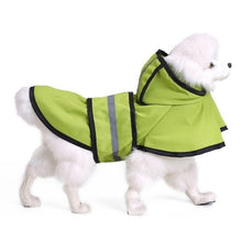Load image into Gallery viewer, Dog Raincoat Reflective Rain Jacket Waterproof Pet Clothes Safety Rainwear For Pet Small Medium Dogs Puppy Doggy Green Red S-2XL