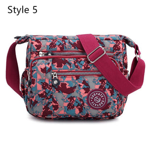 New Fashion Women Messenger Bags Nylon Waterproof Crossbody Shoulder Bag Casual Travel Handbags