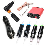 Professional Tattoo Kit Tattoo Power Supply Kit 4 Tattoo Needles 1 Pro MotorTattoo Machine Kit Tattoo Supplies