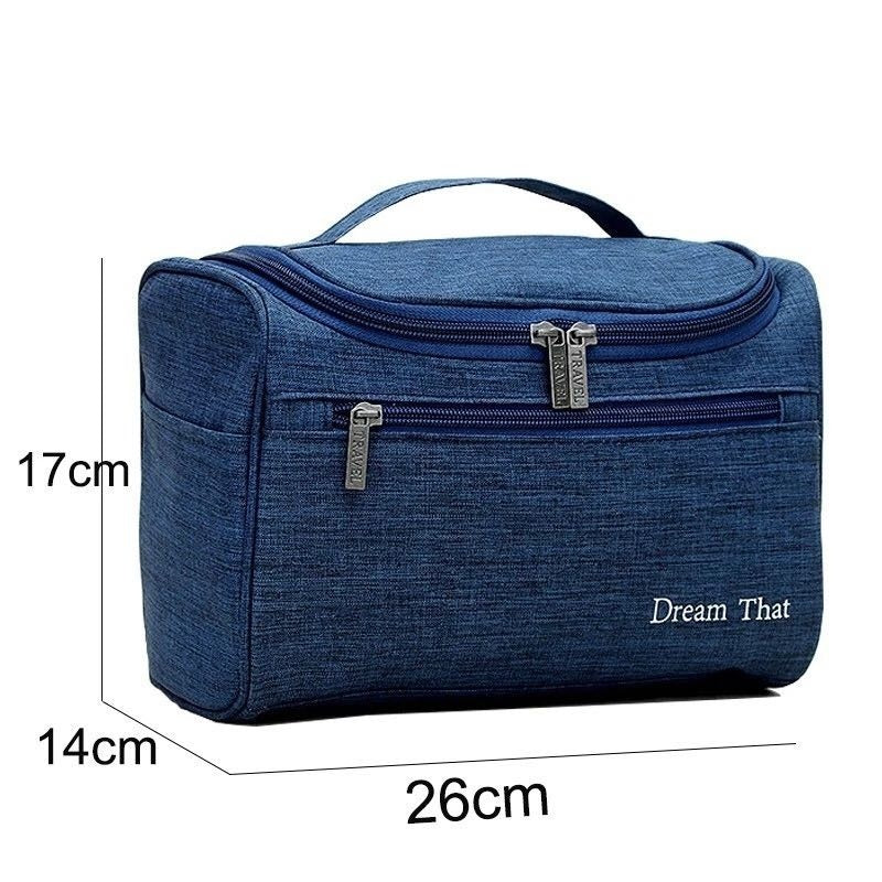 Waterproof Portable Makeup Bag Ladies Outside Travel Toiletry Wash Bag Hang Hook Folding Large Capacity Make Up Organizer