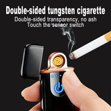 USB Charging Lighter Touch Induction Windproof Mini Ultra-thin Electronic Cigarette Lighter