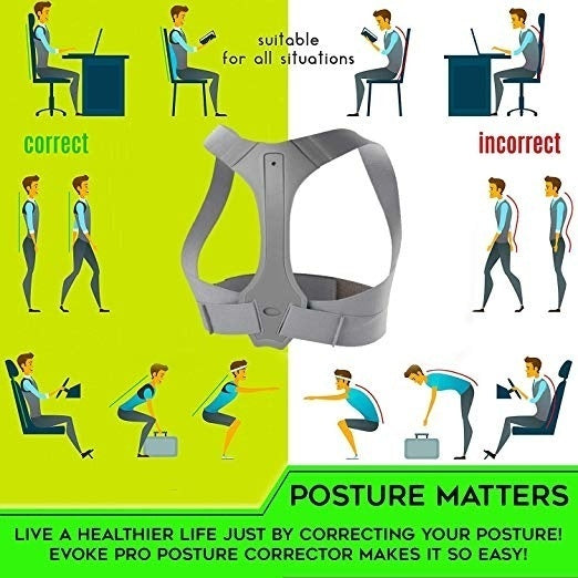 Invisible Comfortable Body Posture Corrector For Women Men Shoulder Braces Back Belt Support For Thoracic Kyphosis and Shoulder Neck Pain Relief