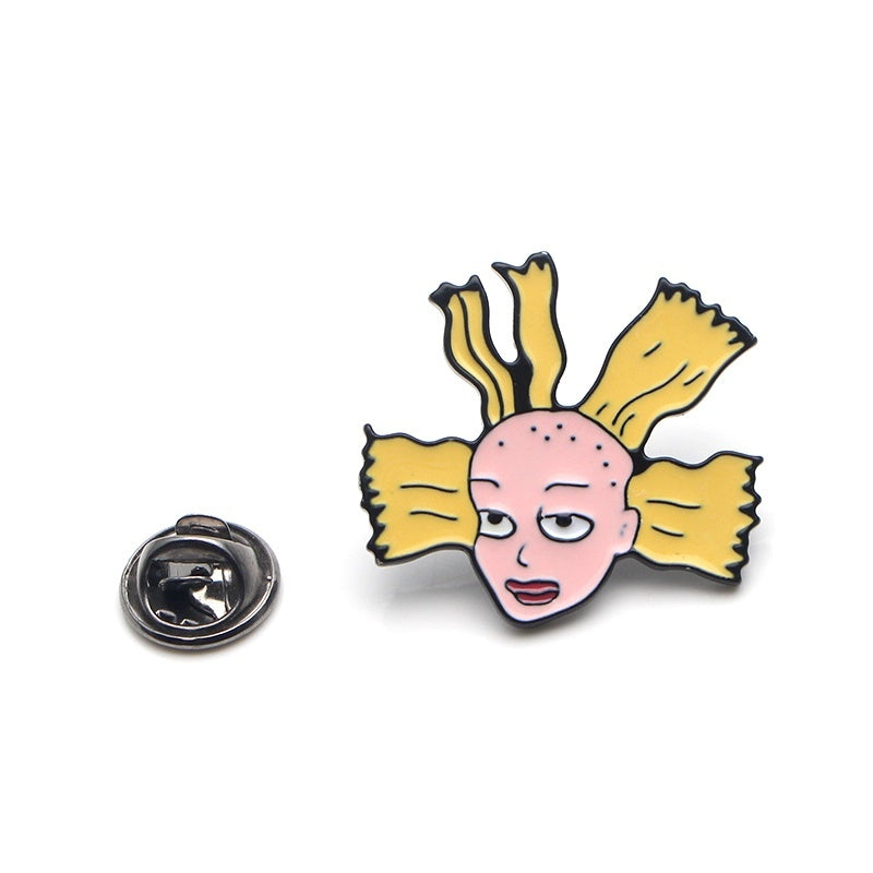 PC1 1 Pcs Cartoon Enamel Pins Metal Cute Collar Pins and Brooches for Women Brooch Jewelry Lapel Pin Badge