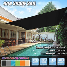 Load image into Gallery viewer, 3 Types Sun Shade Sail Garden Patio Sunscreen 420D Oxford Awning Canopy Screen 95% UV Block Greenbay for Camping Panic Regular Triangle/Square/Rectangle