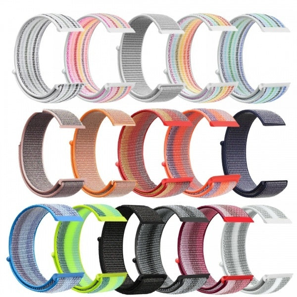 22MM Woven Nylon Loop Sport Watch Band Strap Wristband For Fitbit Versa