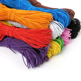 1/1.5/2/3mm Cord Wire 5M Leather Cords Round Rope String for Jewelry Making Bracelet Necklace Craft Accessories DIY