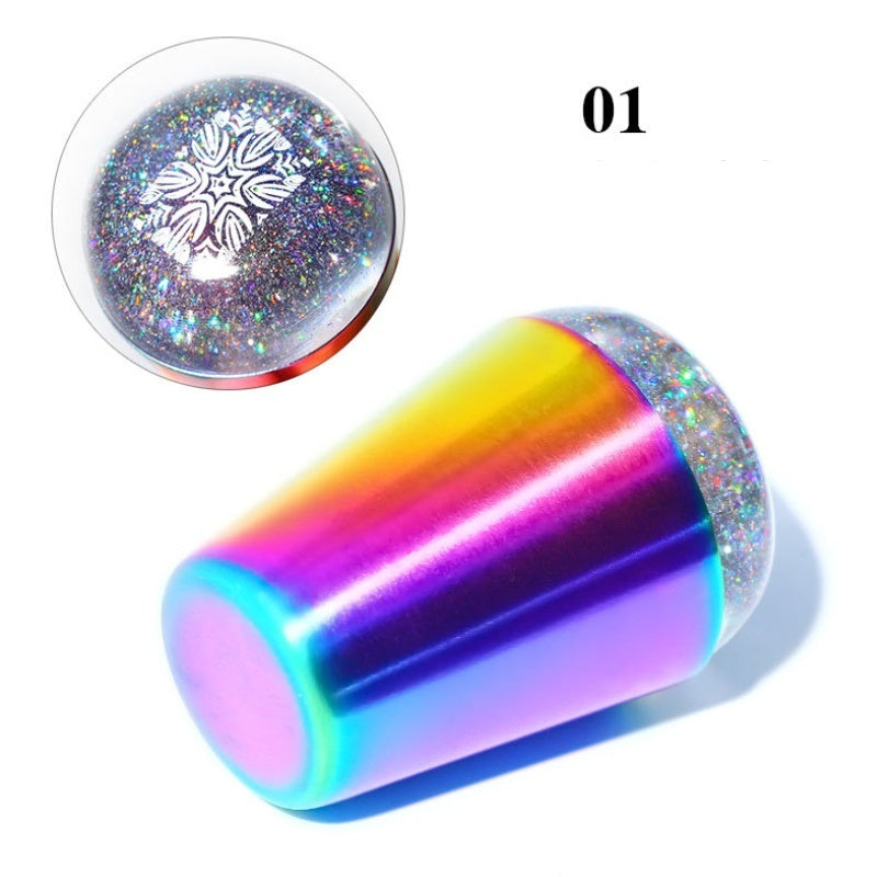 Chameleon handle Nail Stamper graphic Transparent Stamper for UV Gel Stamping Polish Nail Art Tools