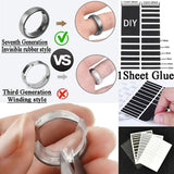 1 Sheet Invisible Ring Adjustment Pads Glue Thin Smooth Simple Rubber Sticker Ring Size Adjustment Pad for Men Women