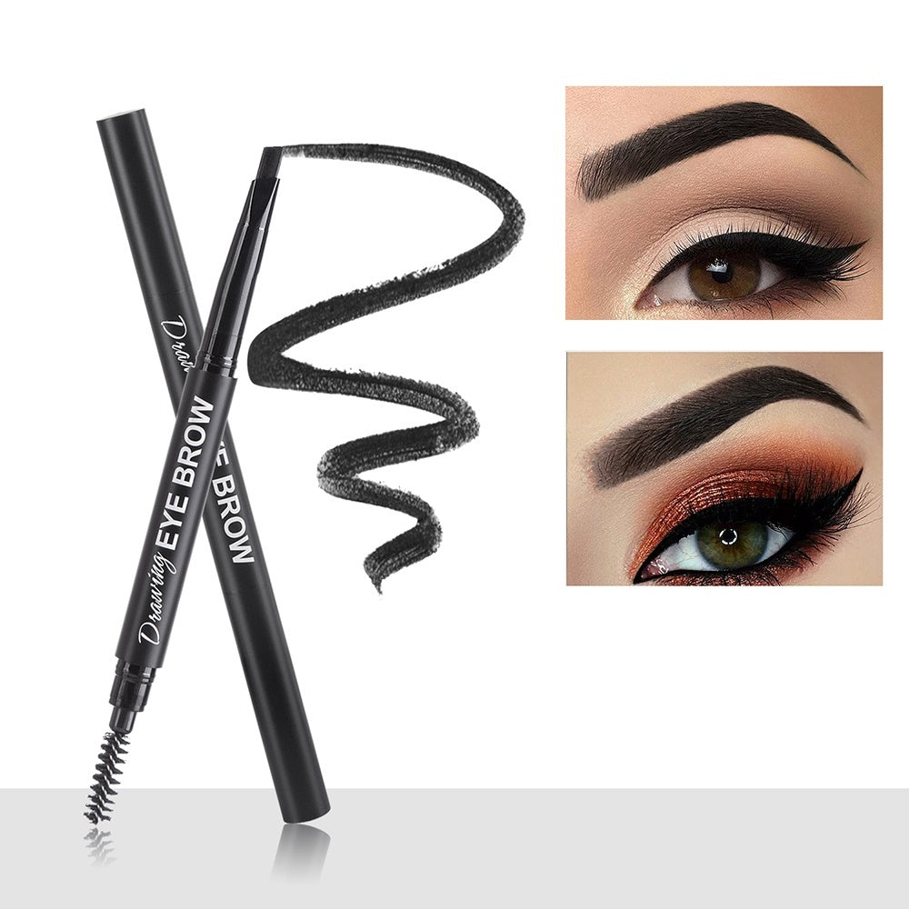 PERALICE 3 Colors Auto Waterproof Eye Makeup Long-lasting Eyebrow Pencil Anti-perspiration  Non-decolorized Natural Persistence