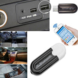 2 in 1 Usb Bluetooth Receiver Transmitter Car Handsfree Kit 3.5mm Jacket Stereo Audio aux Music Reciver Car Bluetooth Adapter
