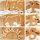 1 PC Wooden Letters Alphabet Decoration Wedding Birthday Home Decor