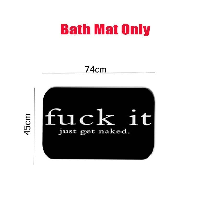 4PCS Bathroom Set Waterproof Shower Curtain Non-slip Mats Bath Carpets Toilet Seat Cover Floor Mat Bathroom Decor