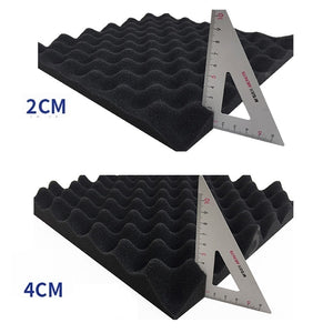 New Upgrade High Density Studio Acoustic Foams Panels Sound Insulation Foam Studio Foam 12 * 12in/30*30*2/4CM Multiple Colour Wall Panel 12/24Pcs