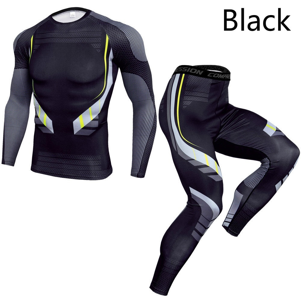 Men's Bicycle Suits Cycling Jersey Bodybuilding Compression Men Sets Quick Dry T Shirt And Leggings Skinny Man Set Fitness Male Suits Ropa Ciclismo Quick Dry Pro Cycling Wear Mens Bicycle Maillot Culotte Suit