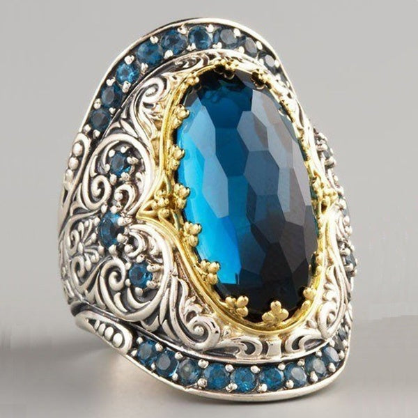 New Products Europe and America Phnom Penh Blue Diamond Ring Jewelry