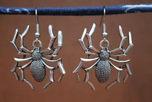 Load image into Gallery viewer, Spider Earrings, Halloween Earrings, Big Spider Earrings