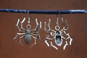 Spider Earrings, Halloween Earrings, Big Spider Earrings