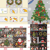 Christmas Window Stickers DIY Star Snow Angel Wall Decals for Family Decoration