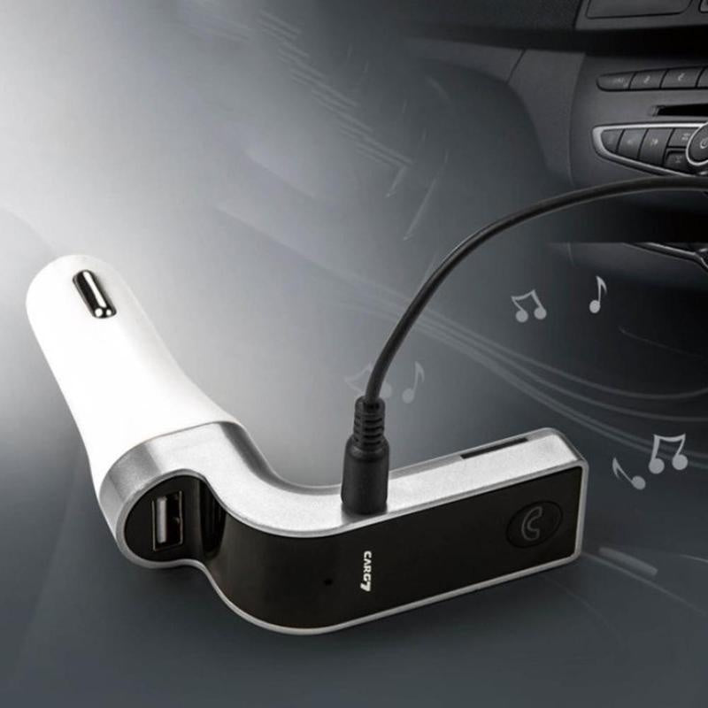 G7 Hands-free Bluetooth Car Kit FM Transmitter USB Charger Adapter MP3 Player w/ MIC