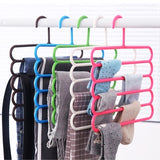 Multi-layer Pants Racks Closet Organizer Space Saving Pants Hangers Holders for Trousers Towels Scarf Tie Clothes Organizer Racks