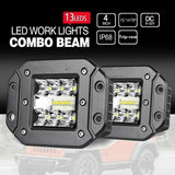 Flush Mount LED Pods 5'' 39W LED Fog Light Super Bright  Off Road for Truck SUV Boat 4x4 Jeep Grill Mount