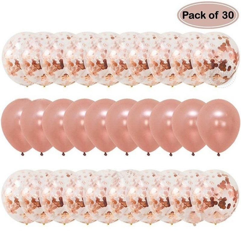 30pcs 12inch Rose Gold Confetti Balloon Metal Balloon Gold Sequin Balloon Birthday Party Wedding Decoration