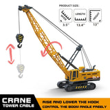 Construction Kids Trucks Crane Excavator Toy 1:55 Diecast Engineering Vehicle Tractor Digger Car Model for Children Christmas Gift