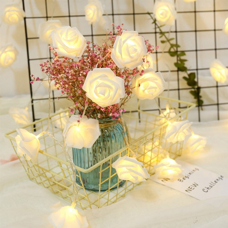 3D Rose Flower Fairy Led String Light Garden Tree Festival Holiday Christmas Party Wedding Decoration