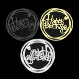 Circle Happy Birthday Love Metal Cutting Dies Emboss Knife Mold Punch Stencil for DIY Scrapbooking Paper Background Card