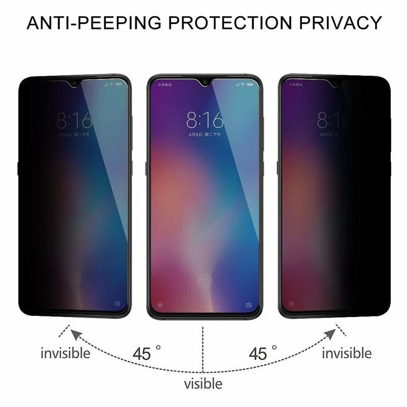 For Samsung Galaxy A10 A40 A80 A70 A90 Note 10 Plus S8 S9 Plus Anti-Spy Tempered Glass Screen Protector Film