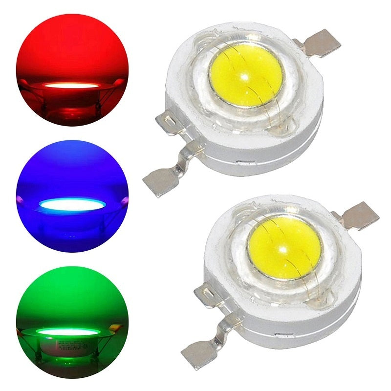20pcs 3W/5W LED Beads Cold White Warm White Red Blue Green Yellow