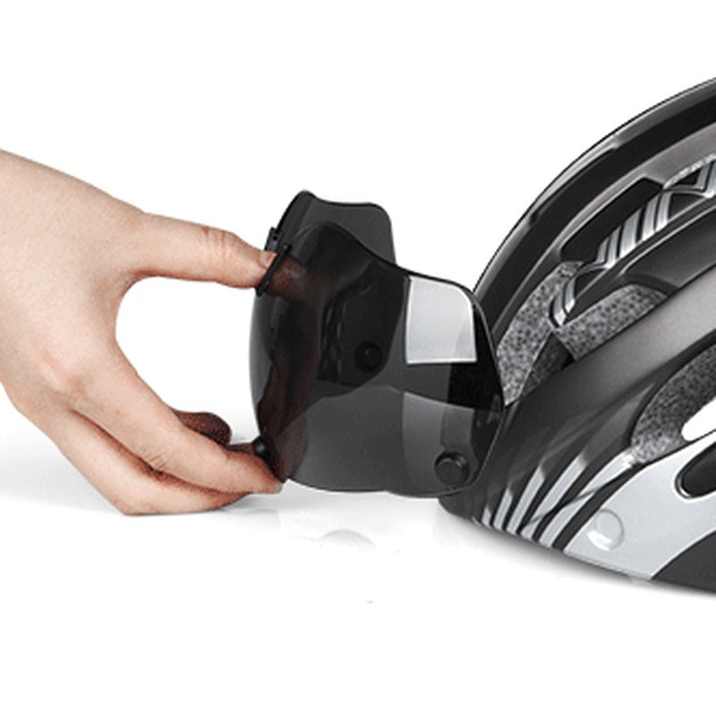 Magnetic sports helmet goggles integrated bicycle helmet outdoor mountain bike riding helmet