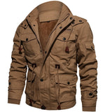 Winter Mens  Clothing Male Military Jacket Men's Fleece Jackets Warm Hooded Coat Thermal Thick Windproof Outerwear