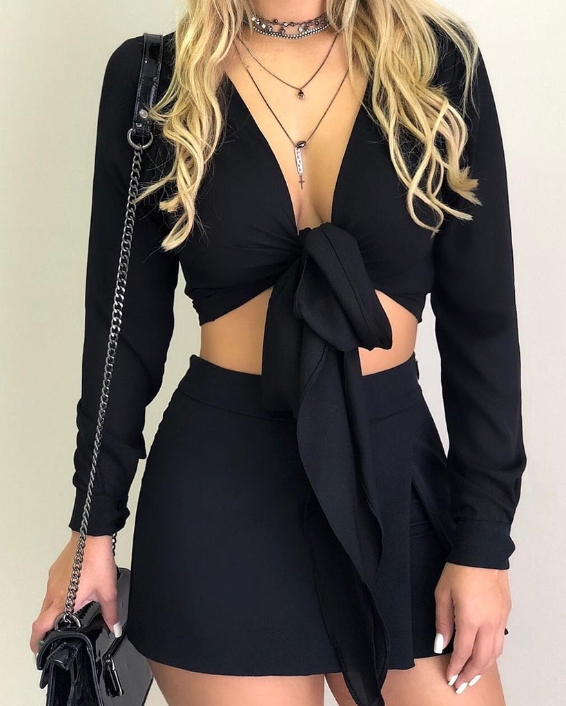 Women New Long Sleeve Fashion Shirt Casual Solid Color Bow-knot Tops Outerwear Bottoming Ladies Clothes Plus Size