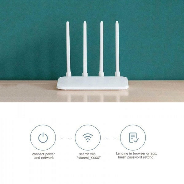 2019 News 2.4G/5G Dual Band Xiaomi Mi 4C WiFi Wireless Router Repeater with 4 Antennas