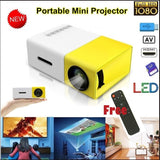 New YG-300 Mini LCD Projector 320*240p Support 1080P Home Theater Systems Portable Smartphones Laptop PC Multi-media Player USB/HDMI/AV/TF Card with Remote Controller