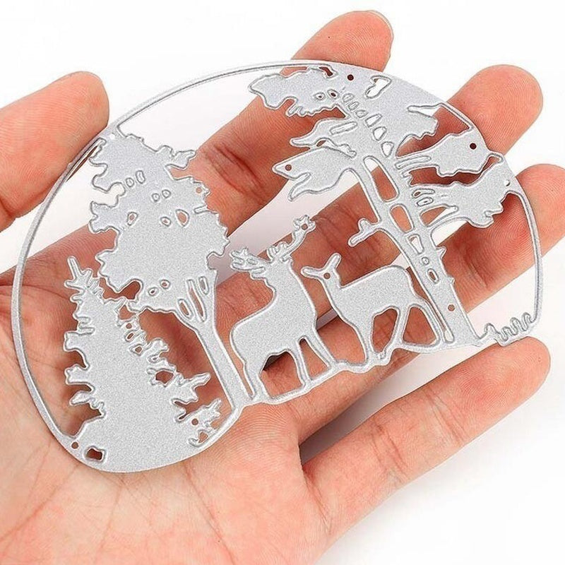 Deer Tree Metal Cutting Dies Stencil Merry Christmas Greeting Gift Card  Scrapbooking Photo Album Crafts